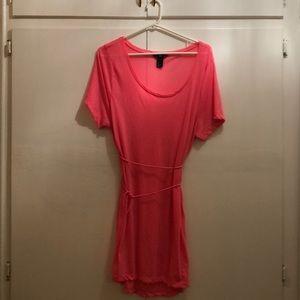Hot Pink T-Shirt Dress